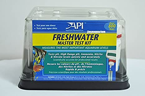 API Kit de prueba pH No2 No3 NH3 NH4 PH GH KH ca PO4 fresco marina Reef Fish Tank: Amazon.es: Productos para mascotas