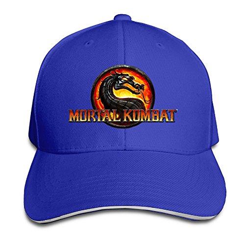 MARC Custom Mortal Kombat Logo Adult Trucker Visor Cap RoyalBlue (Mortal Kombat Dos)