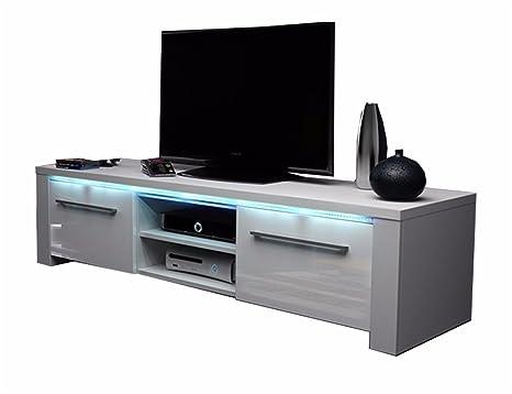 Marco - Mobile TV audio e video / Mobiletto porta TV (140 cm, bianco ...