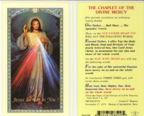 e Mercy Holy Card (800-529) by
