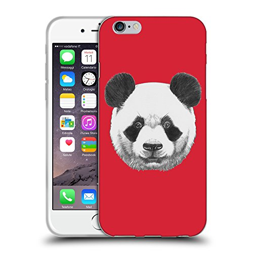 "GoGoMobile Coque de Protection TPU Silicone Case pour // Q05300601 Panda Alizarine // Apple iPhone 6 4.7"""