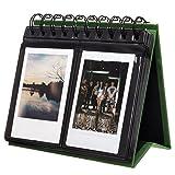 [Fujifilm Instax Mini Photo Album] Woodmin 72 Pockets Desk Calendar Album for Fuji Instant Mini 70 7s 8 25 50s 90, Polaroid Z2300, Polaroid PIC-300P Film(Green)
