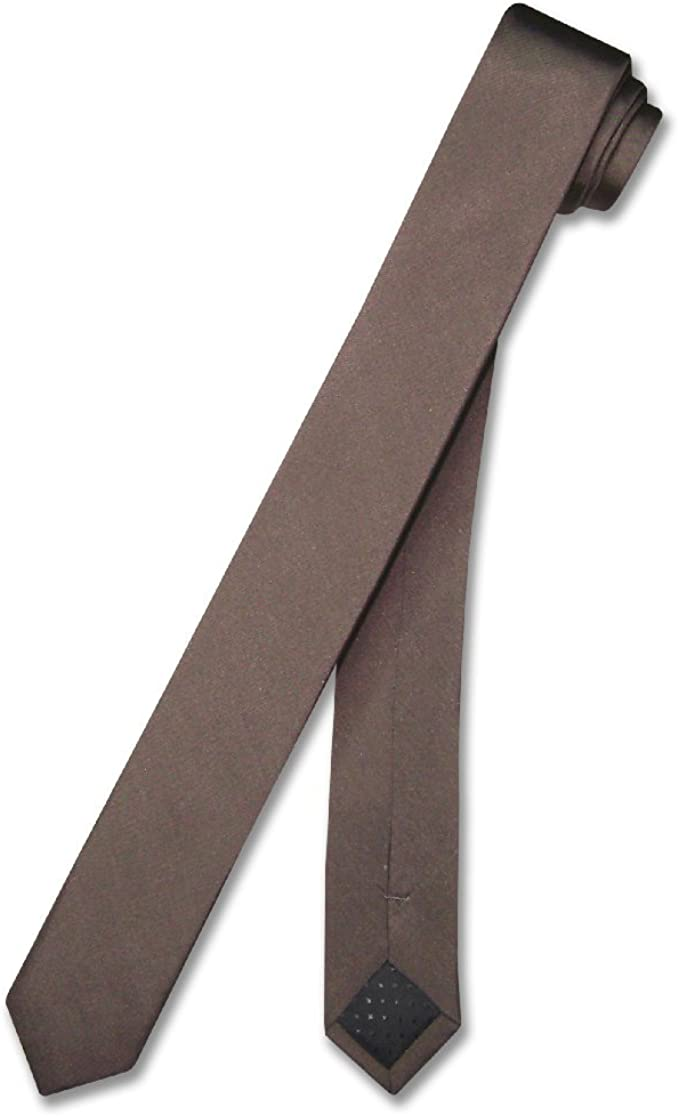 COVONA Narrow NeckTie Skinny BLACK DESIGN Color Men/'s Thin Neck Tie 2.5/""