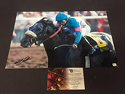 Mike Smith Kentucky Derby Winner Rare Racing HOF Signed Autograph 13x19 Photo - Autographed Horse Racing Photos