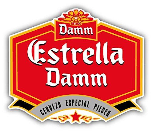 estrella-damm-cerveza-beer-drink-car-bumper-sticker-decal-14-x-12