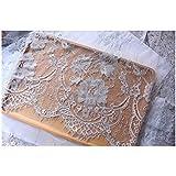 Chantilly Eyelash Edge Lace Fabric Floral Bridal/Wedding Dress Flower African Lace Table Cloth DIY Crafts Trim Applique Ribbo