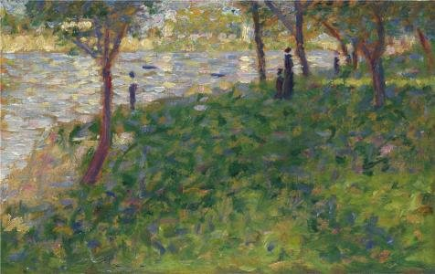 [Perfect Effect Canvas ,the Imitations Art DecorativePrints On Canvas Of Oil Painting 'Georges Seurat - Study For 'La Grande Jatte',1884-5', 16x25 Inch / 41x64 Cm Is Best For Game Room Decor And Home Gallery Art And] (Chicago The Musical Costume Ideas)