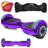 cho Electric Smart Self Balancing Scooter Hoverboard Built-in Speaker LED Wheels Side Lights- UL2272 Certified