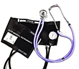 Best Pressure Cuff With Dual Heads - EMI Lilac Sprague Rappaport Stethoscope and Black Blood Review