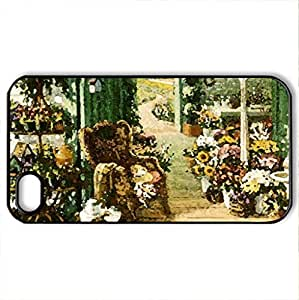 The Blossom Shoppe - Case Cover for iPhone 4 and 4s (Farms Series, Watercolor style, Black)