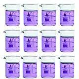 Eisco Labs Beaker - 100mL, Borosilicate Glass, 100mL graduation Low form - Pack of 12