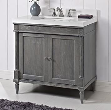 Fairmont Designs 143 V36 Rustic Chic 36u0026quot; Vanity   Silvered Oak
