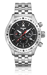 Traser Aviator Jungmann Chronograph Watch w/ Sapphire Crystal T5302.253.4P.11