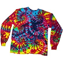 BMD Long Sleeve Tie Dye Burning Man by Blue Mountain Dyes (X-Large)