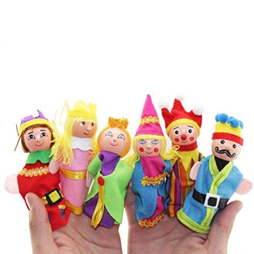 AMA(TM) 6PCS Finger Hand Puppets Dolls Baby Kids Infant Toy Plush Toys Educational Toy Christmas Gifts (Angry Birds Halloween 1-2 3 Stars)