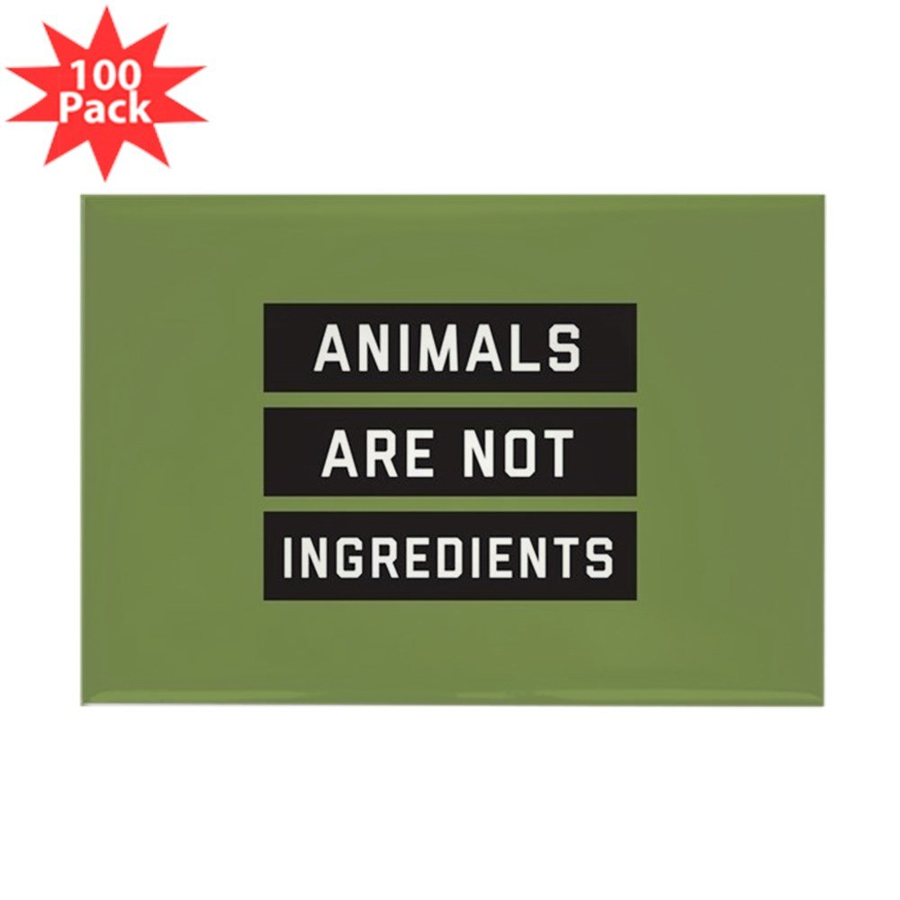 CafePress - Animals Are Not Ingred - Rectangle Magnet (100 pack)