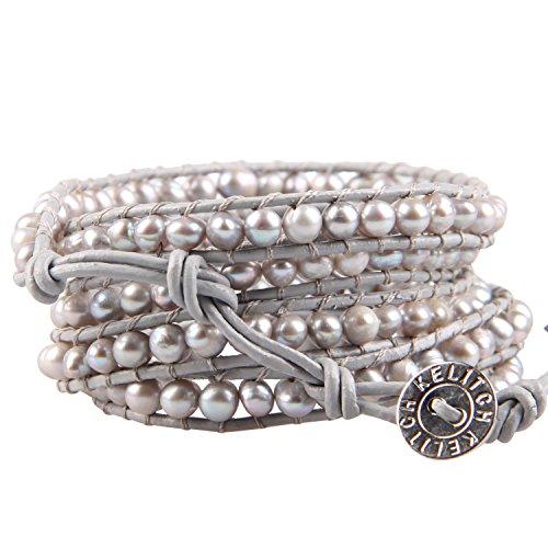 Pearl Beaded Wrap Bracelet - 3