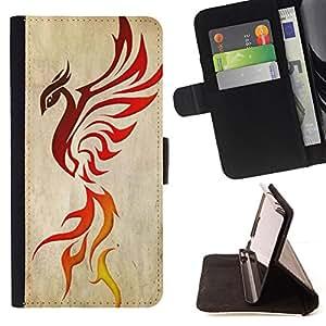 - Fire Dragon Phoenix Bird Ashes Red Decal - - Prima caja de la PU billetera de cuero con ranuras para tarjetas, efectivo desmontable correa para l Funny HouseFOR Samsung Galaxy Note 3 III