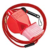 Fox 40 Classic CMG Safety Whistle with Breakaway Lanyard (Red)