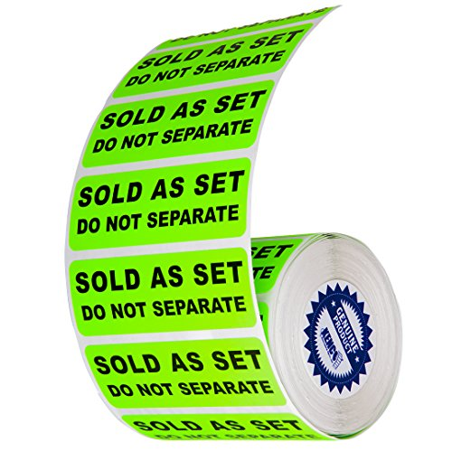 Sold as a Set Do Not Separate Labels Stickers by Kenco 3