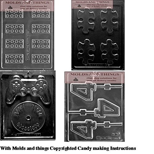 Building Block Chocolate Candy Mold, Video Game controller c