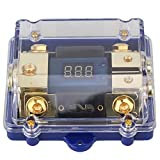 WEONE 1 in 2 Ways Car Audio Power Distribution Block Digital LED Display Fuse Holder
