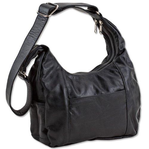 - Concealed Carry Purse - Coronado Leather American Hobo - Black