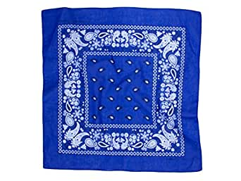 Paisley Cotton Bandana Royal Blue