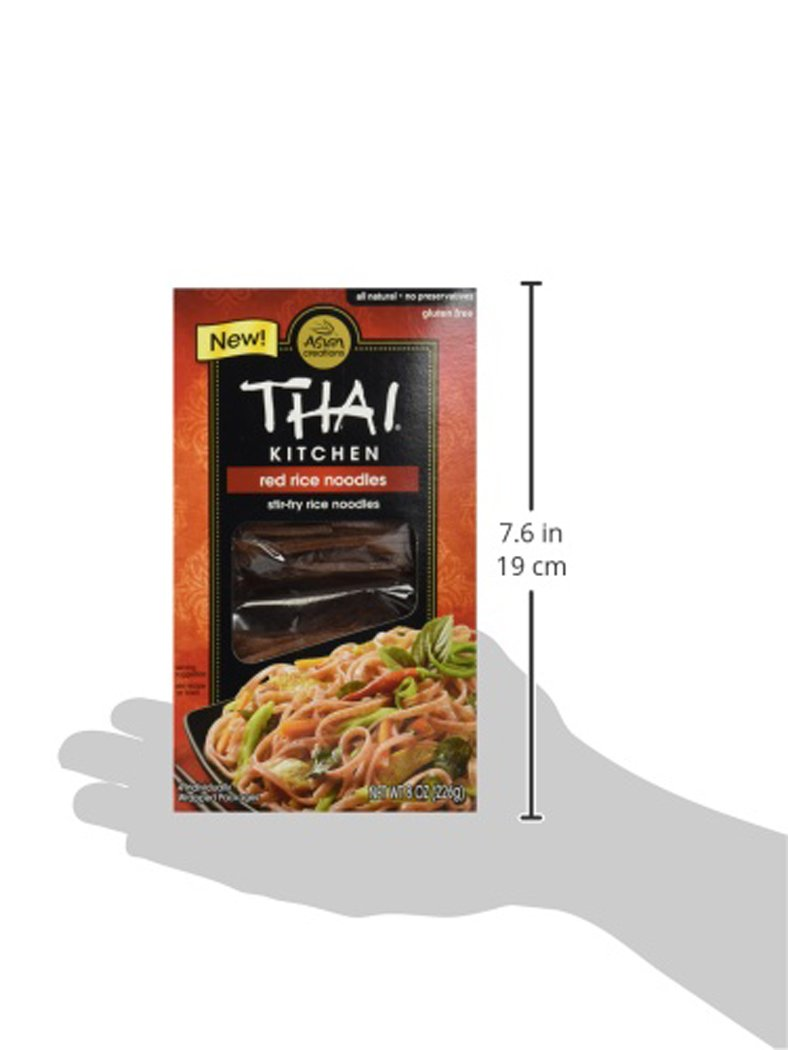 Amazon.com : Thai Kitchen Red Rice Noodles, 8 Ounce (Pack of 1 ...