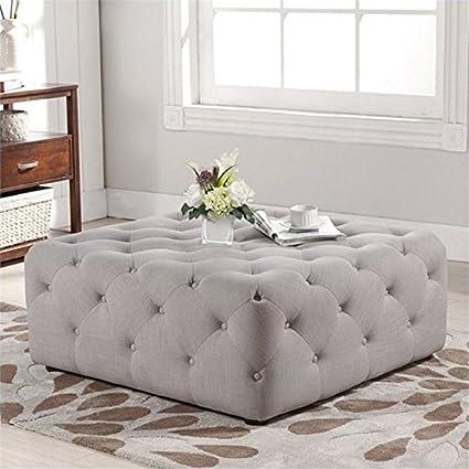 Pleasing Amazon Com Atlin Designs Square Tufted Coffee Table Ottoman Uwap Interior Chair Design Uwaporg