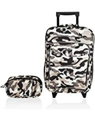 Obersee Kids Luggage and Toiletry Bag Set, Camo