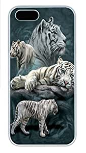 For Ipod Touch 4 Phone Case Cover White Tiger Collage PC Hard Plastic For Ipod Touch 4 Phone Case Cover Whtie