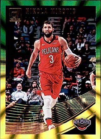 2018-19 Donruss Holo Green and Yellow Laser  27 Nikola Mirotic New Orleans  Pelicans e19abbaee