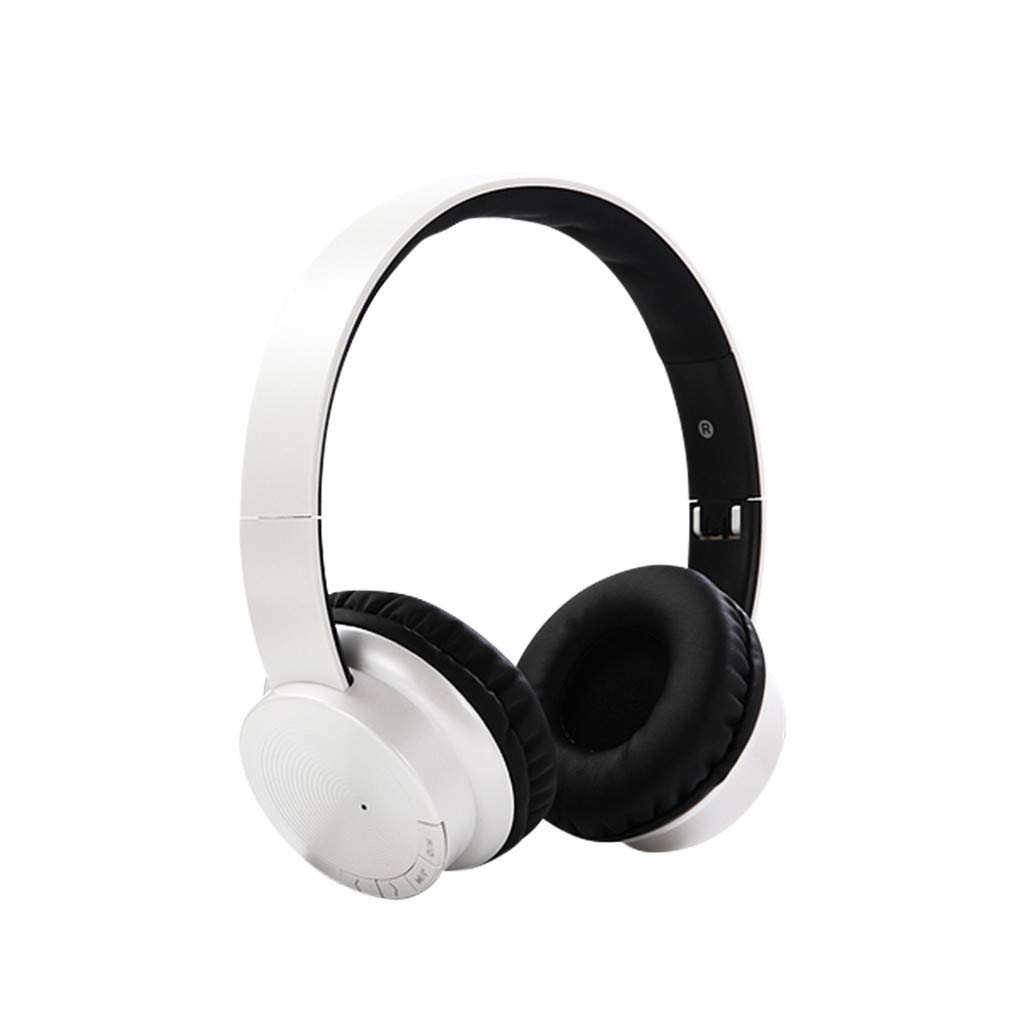 Wireless Headset Bluetooth 4.2 Stereo Over Ear Foldable Adjustable Headphones Built-in Mic Noise Cancelling Deep Bass Headband Earbuds Universal Low Power Long Standby Gaming Earphones