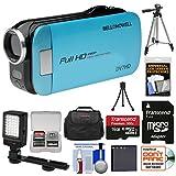 Bell & Howell Slice2 DV7HD 1080p HD Slim Video Camera Camcorder (Blue)