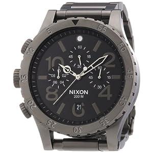 Nixon 48-20 Black Dial Smoke-Tone SS Chronograph Quartz Men's Watch A486-632