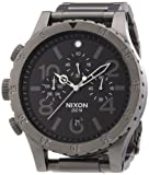 Nixon 48-20 Black Dial Smoke-Tone SS Chronograph Quartz Men's Watch A486-632