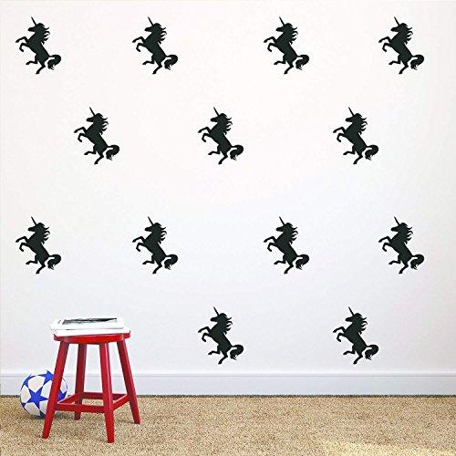 Unicorn Wall Stickers 20Pcs Wall Art Decals Home Decor Girls Sticker for Home Living Room Kids Room Nursery Bedroom Decor - 2.7