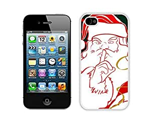 Personalization Santa Claus White iPhone 4 4S Case 11