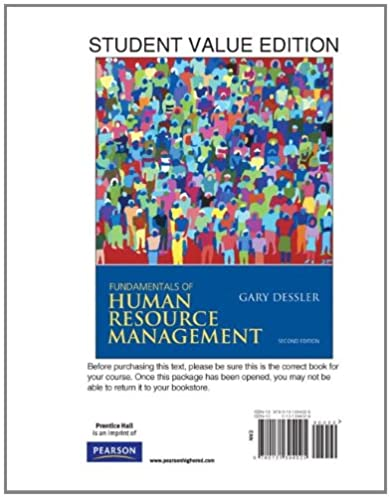 fundamentals of human resource management student value editionfundamentals of human resource management student value edition 2nd edition