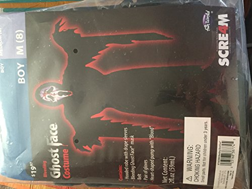 Ghost Face Costume Kids (Bleeding Ghost Face Child Costume - Medium)