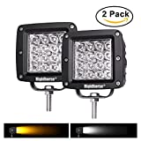 07 acura tl led yellow fog lights - Dual-Color LED Work Light Rigidhorse 4 Row 4 Inch 38W Dual-Color LED Spot Lights/Off Road Light /Driving Lights/LED Work Light, For Jeep/SUV/Trucks With Slidable Mounting Bracket, 2 pack