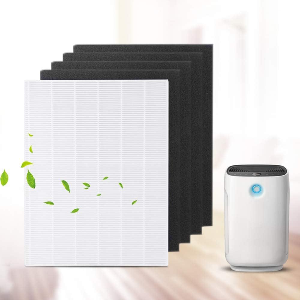 WuYan 4 piezas purificador de aire pre-filtros de carbono y 1 ...