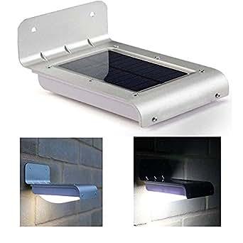Solar Pared luces, keeda 16LED impermeable Movimiento Sensor luces, seguridad luces, Paisaje lámpara, luz nocturna inalámbrica para patio, plataforma, Yard, Jardín, franja, Hogar, auffahrt, escaleras