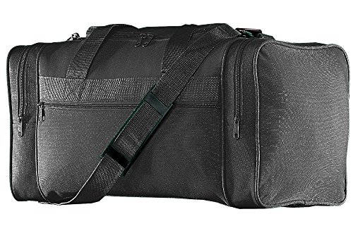 Augusta Sportswear Gear Bag - Augusta Sportswear Augusta 600 D Poly Small Gear Bag, Black, One Size