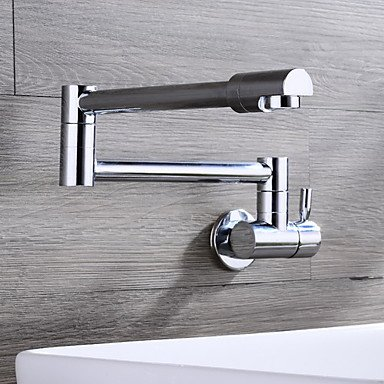 YAMEIJIA Wall Mounted Single Handle One Hole Chrome Kitchen Faucet