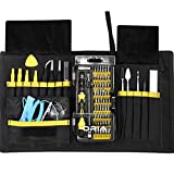 ORIA 76-in-1 Precision Screwdriver Set with Magnetic Driver Kit, Repair Tool Kits With Portable Box For iPad, iPhone, Laptops, PC, Smartphones, Watches and Other Devices, Yellow