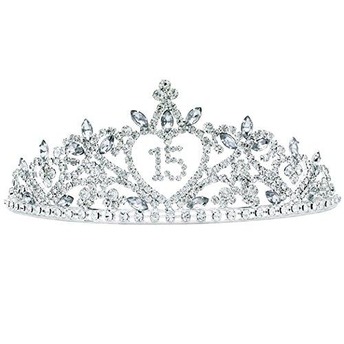 Rosemarie Collections Women's Rhinestone Birthday Tiara Crown -