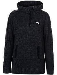 Mens Cowl Knit Hoody Jumper Hoodie Hooded Top Sweater Pullover Long
