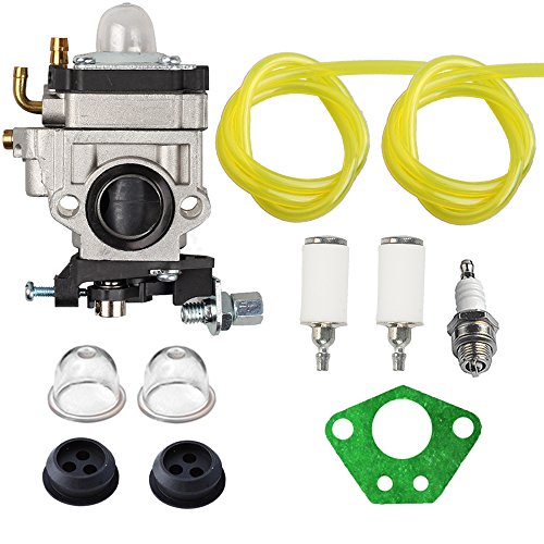 Hilom 300486 Carburetor with Repower Tune-Up Kit for Earthquake E43 E43CE E43WC Auger MC43 MC43E MC43CE MC43ECE MC43RCE Tiller MD43 WE43 WE43E WE43CE Edger ()